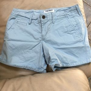 Old navy light blue shorts worn once!